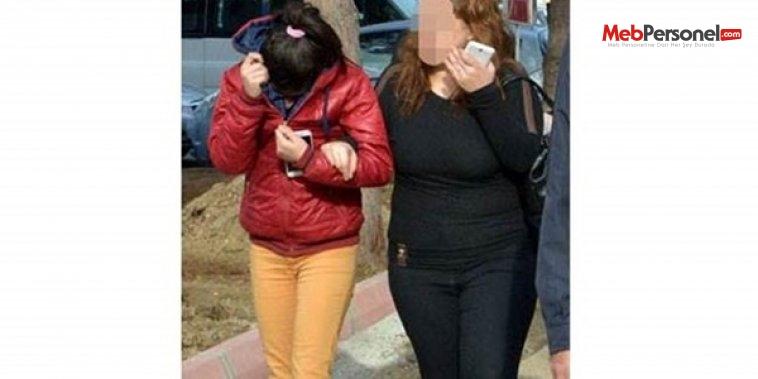 Liseli kızlar hırsızlık yaparken yakalandı