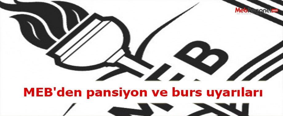 MEB'den pansiyon ve burs uyarıları
