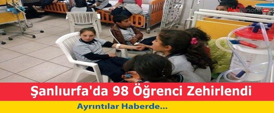 Şanlıurfa'da 98 Öğrenci Zehirlendi