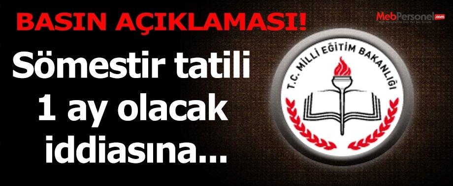 MEB'DEN 15  TATİL UZAYACAK MI AÇIKLAMASI GELDİ.