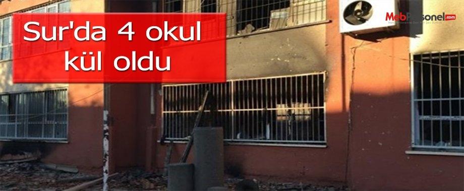 Sur'da 4 okul kül oldu