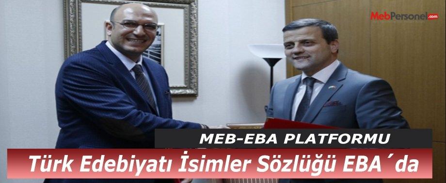 Türk Edebiyatı İsimler Sözlüğü EBA´da