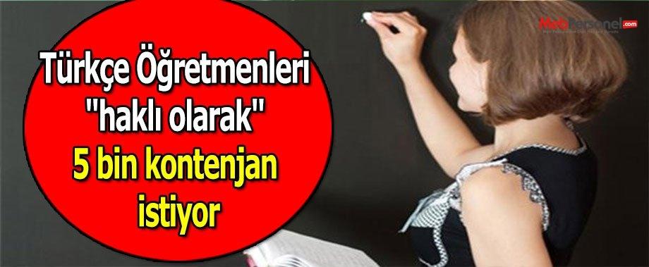 """Türkçe Öğretmenleri """"haklı olarak"""" 5 bin kontenjan istiyor"""