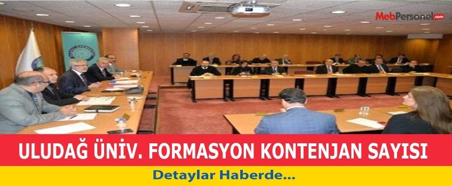 Uludağ Üniversitesi'nin formasyon kontenjanı 2 bin 500