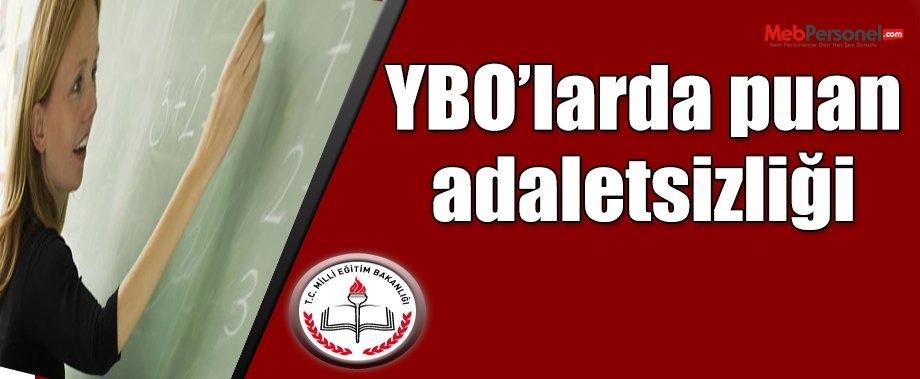 YBO'larda puan adaletsizliği