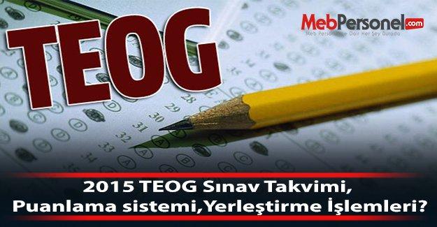 2015 TEOG Sınav Takvimi, Puanlama sistemi,Yerleştirme İşlemleri?