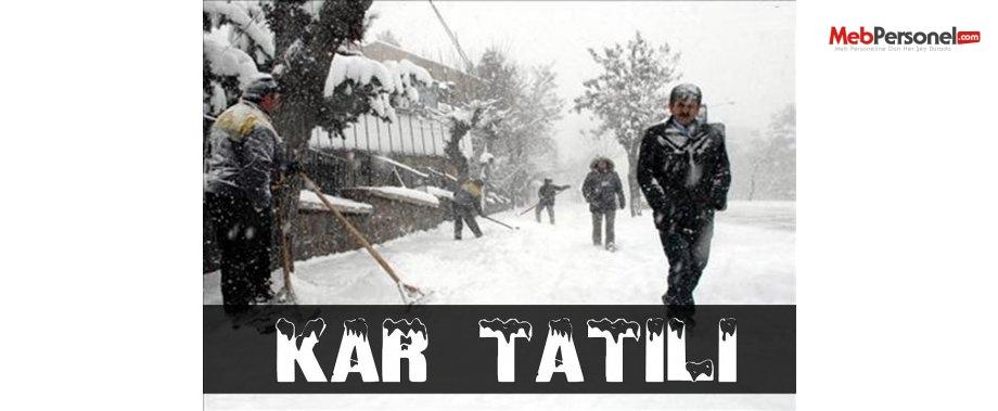 32 ilde yoğun kar yağışı nedeniyle okullar tatil