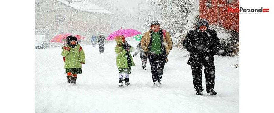 Bartın'da okullar 2 gün tatil edildi