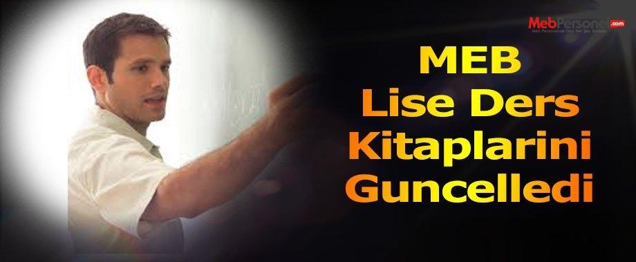 MEB Lise Ders Kitaplarini Guncelledi