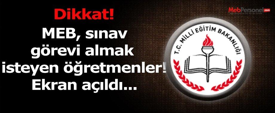 MTSK 2016-1 Sınav Görevi Başvuruları - TIKLA