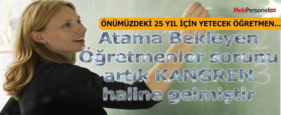 Atama Bekleyen Öğretmen Sayısı Türkiye'nin 25 Yıllık İhtiyacı Kadar