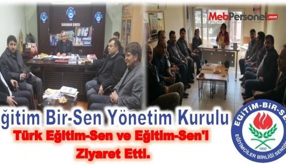 Eğitim Bir-Sen den Türk Eğitim-Sen ve Eğitim-Sen'e Ziyaret