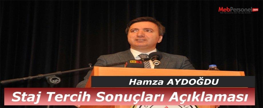 Genel Müdür Aydoğdu'dan Staj Tercih Sonuçları Açıklaması