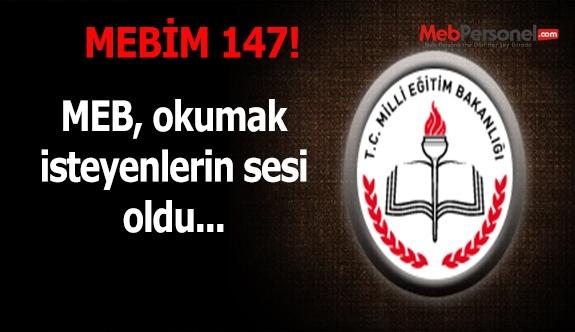 'MEBİM 147' okumak isteyenlerin sesi oldu