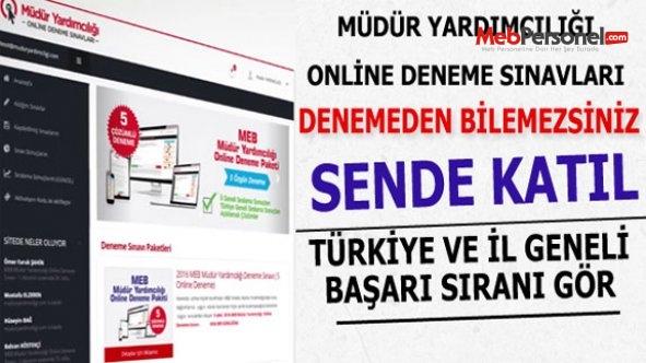 Müdür Yardımcılığı Online Denemelere Katıl Türkiye Ve İl Geneli Başarı Sıranı Öğren