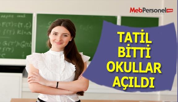 Tatil Bitti Okullar Açıldı