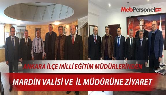Ankara İlçe MEM, Mardin Valisi ve İl Müdürünü Ziyaret Etti
