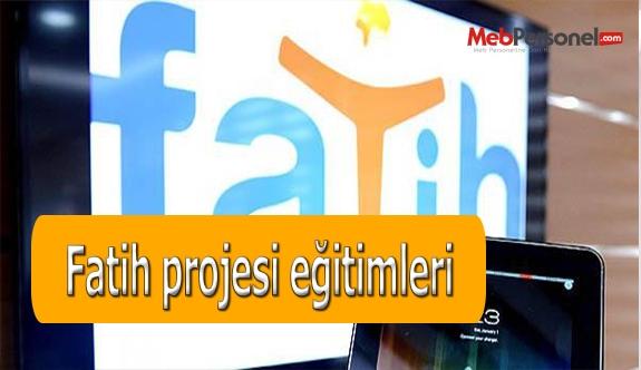 Fatih projesi eğitimleri