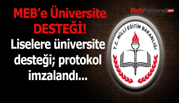 Liselere üniversitelerden destek
