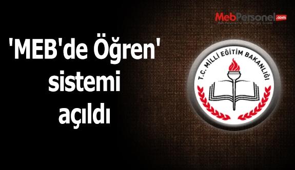 'MEB'de Öğren' sistemi açıldı
