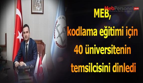 MEB, kodlama eğitimi için 40 üniversitenin temsilcisini dinledi