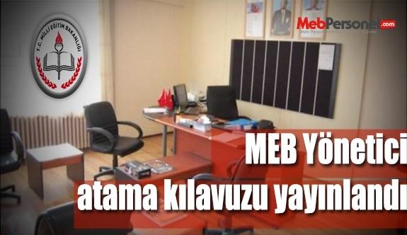 MEB Yönetici Atama Kılavuzu Yayınlandı