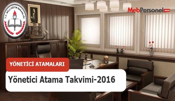 MEB Yönetici Atama Takvimi -2016