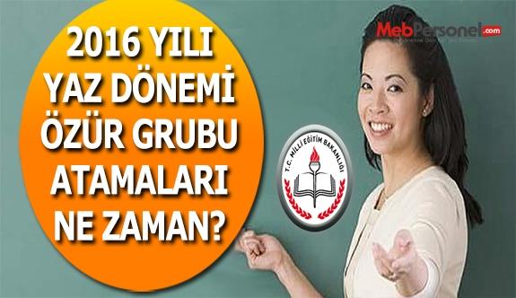 Özür Grubu Atama Takvimi Ne Zaman Yayınlanır?