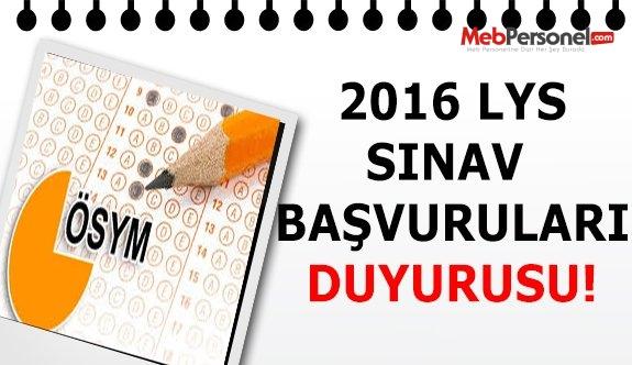 2016 Lisans Yerleştirme Sınavları (2016-LYS) Başvuruları