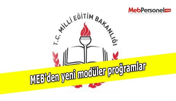 MEB'den yeni modüler proğramlar