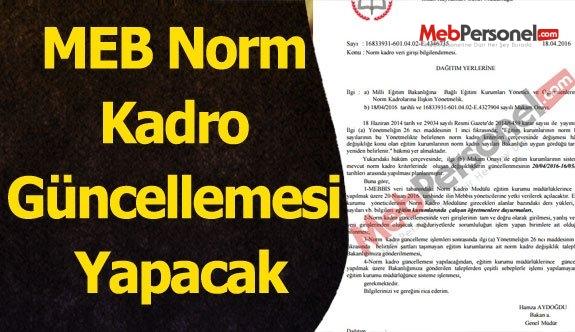 MEB Norm Kadro Güncellemesi Yapacak (Resmi Yazı)