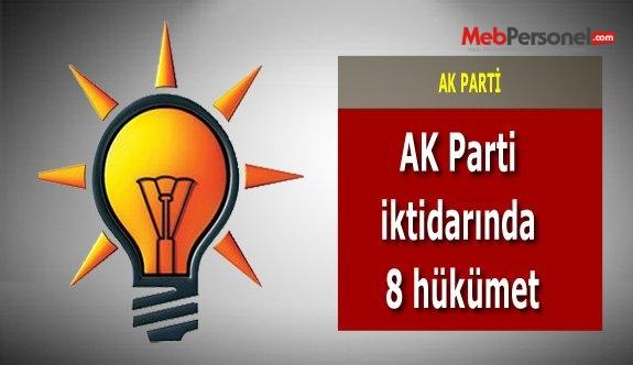 AK Parti iktidarında 8 hükümet