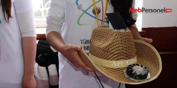 Öğrencilerden 'serinleten' şapka