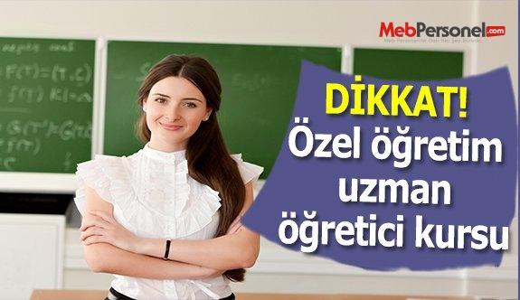 Özel eğitim alanında destek eğitimi uzman öğretici kursu