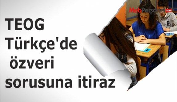 TEOG Türkçe'de özveri sorusuna itiraz