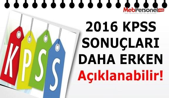 2016 KPSS Sonuçları Erken Açıklanabilir
