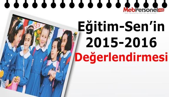Eğitim Sen 2015-2016 eğitim öğretim yılını değerlendirdi