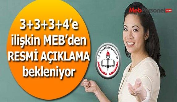 Gündeme Oturan 3+3+3+4 Sistemi ile ilgili MEB'den Açıklama Bekleniyor