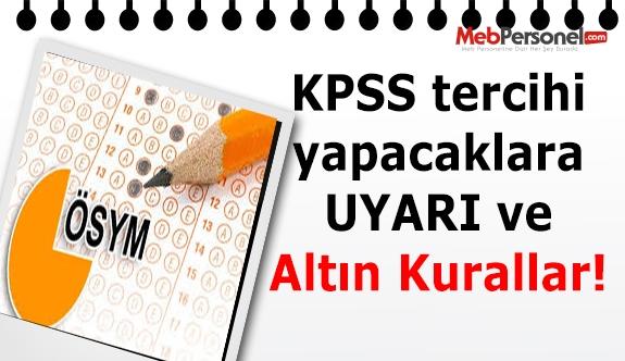 KPSS için Tercih Yapacaklar Dikkat: ''Altın Kurallar''
