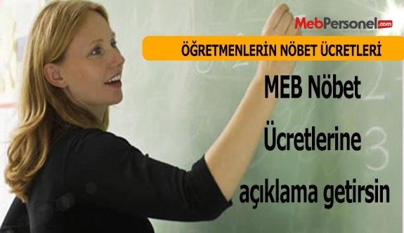 MEB Nöbet Ücretlerine açıklama getirsin