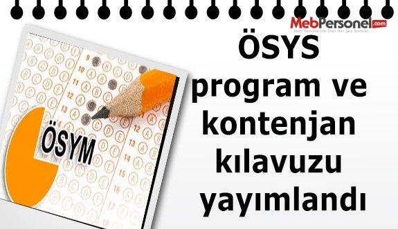 ÖSYS program ve kontenjan kılavuzu yayımlandı