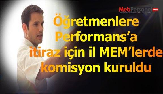 Performans Notlarına İtiraz İçin İL MEM'lerde Komisyon