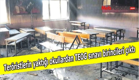 Teröristlerin yaktığı okullardan TEOG sınavı birincileri çıktı