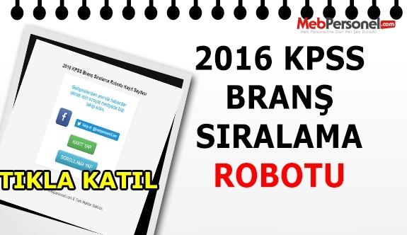 KPSS Branş Sıralaması Robotu 2016