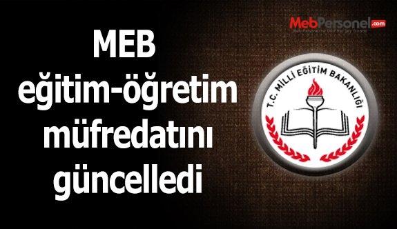 MEB eğitim-öğretim müfredatını güncelledi