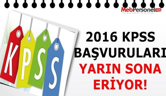 2016 KPSS başvurularında yarın son gün!