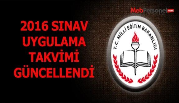 2016 Sınav Uygulama Takvimini Güncelledi