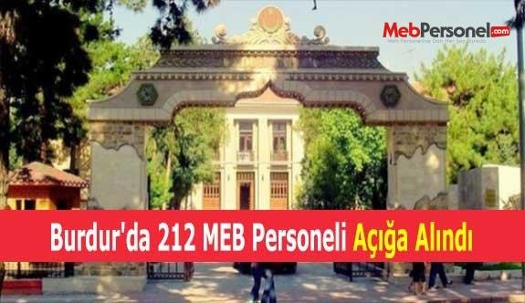 Burdur'da 212 MEB Personeli Açığa Alındı
