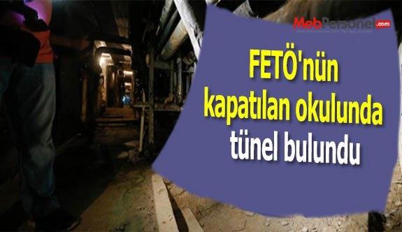 FETÖ'nün kapatılan okulunda tünel bulundu