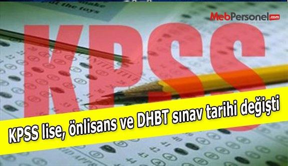 KPSS lise, önlisans ve DHBT sınav tarihi değişti